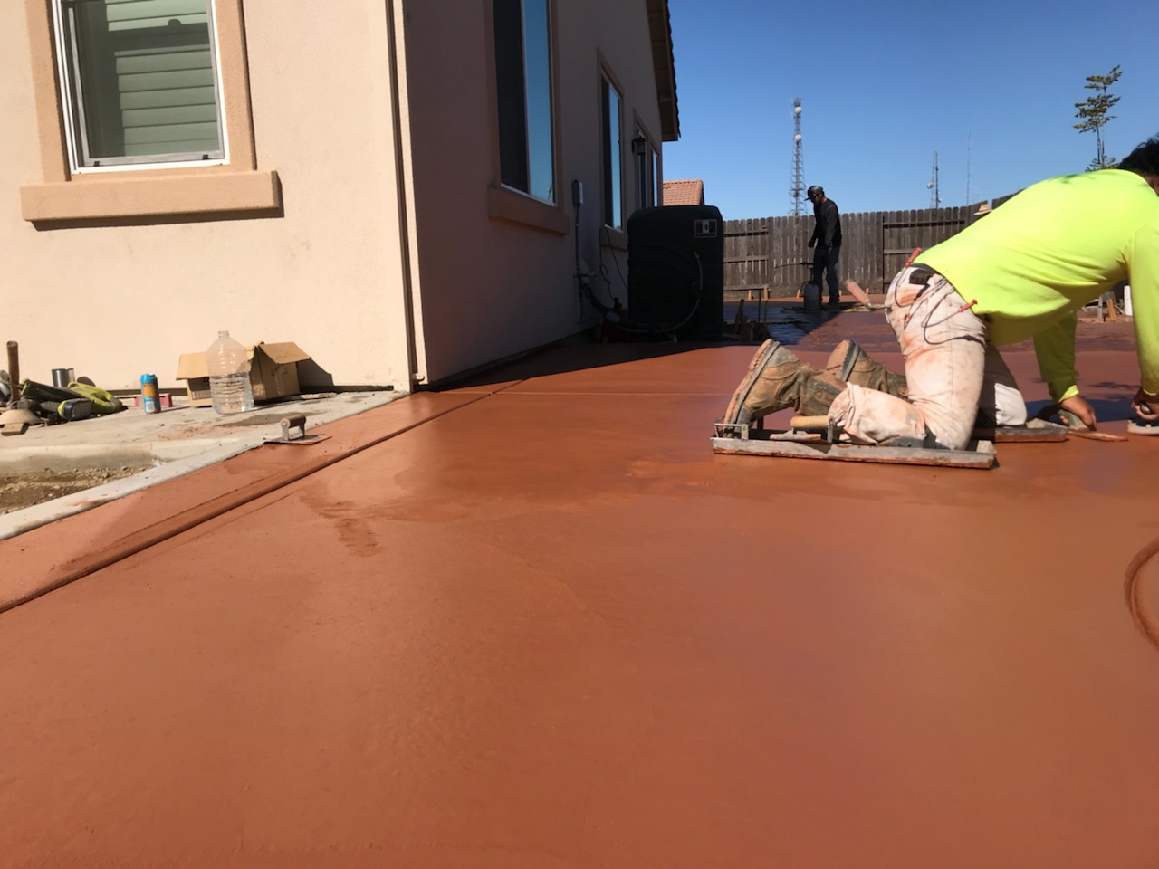 this picture shows livermore concrete masonry colored concrete