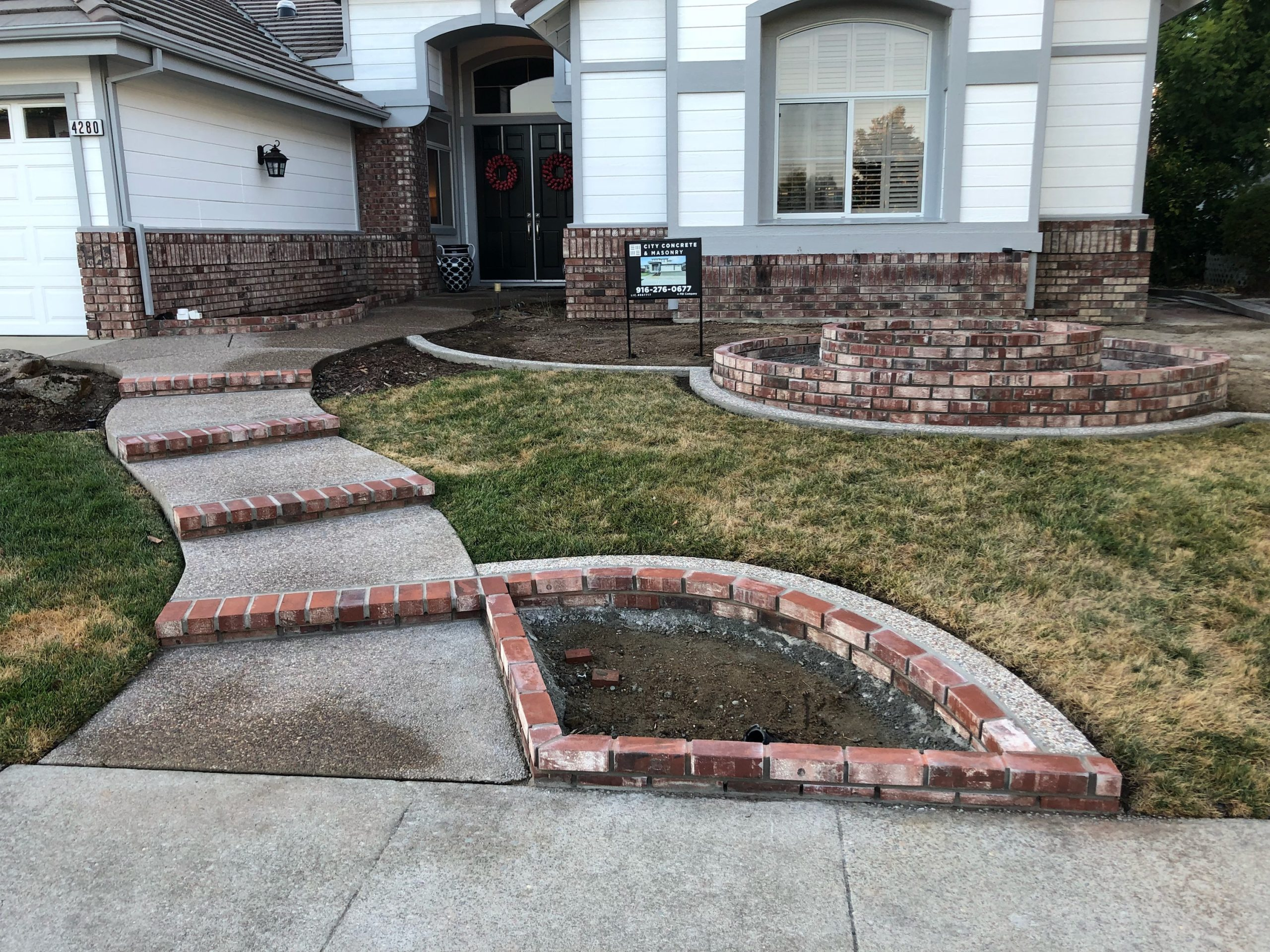 this image shows stamped concrete patios livermore