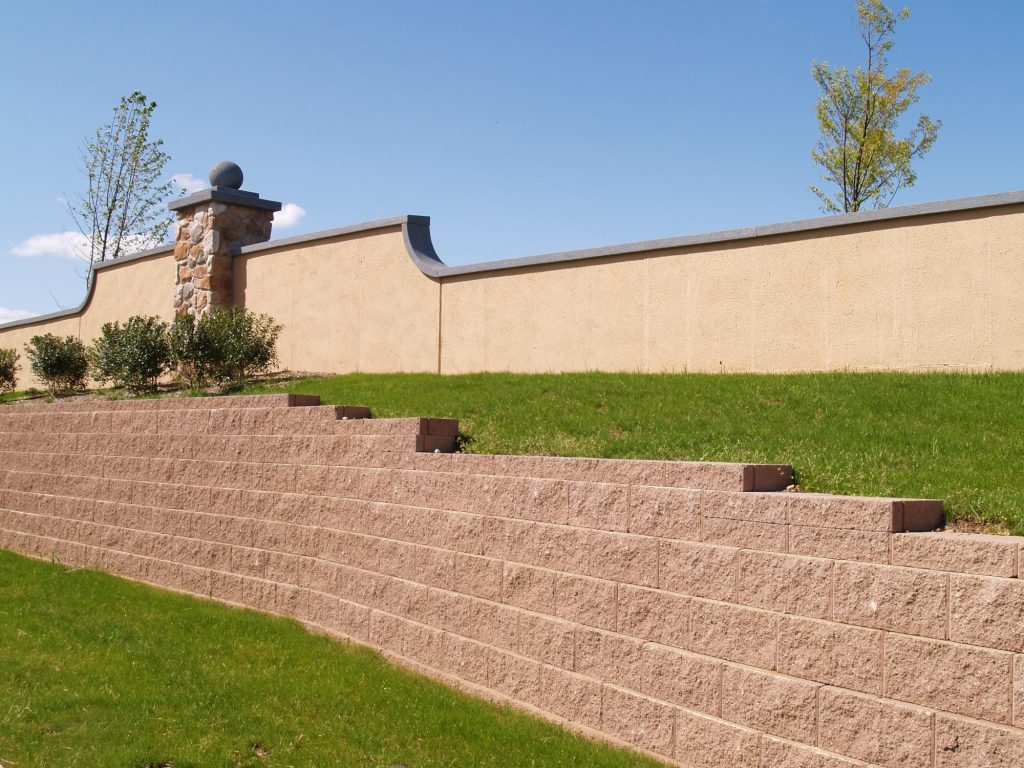 this image shows livermore retaining wall