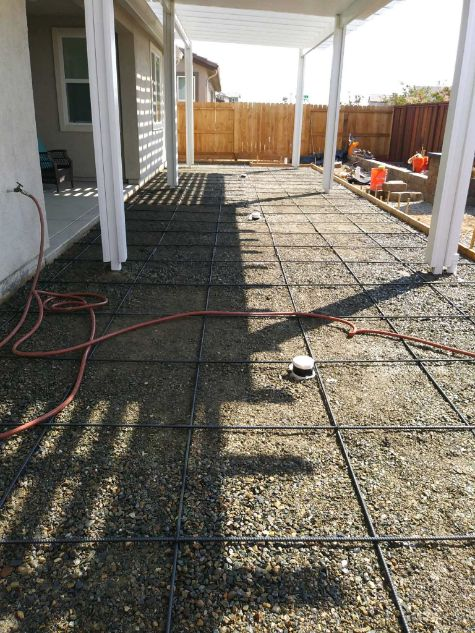 This image shows concrete leveling works in Livermore, CA.