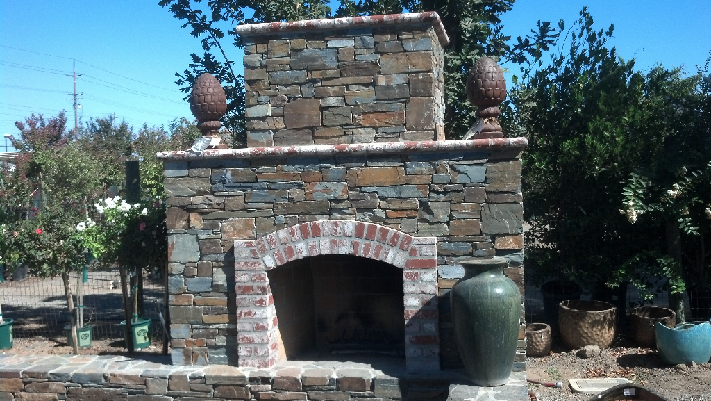 This is an image of outdoor fireplace in Livermore, CA.